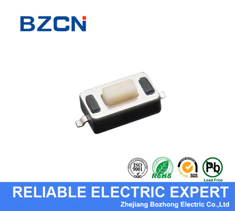 Reflow Solderable Low Profile Tactile Switch Miniature Type With White Button