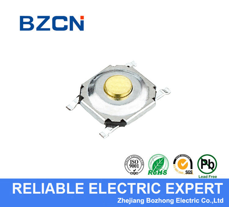 Round Cover Silent Tactile Button Switch AC 250V/M 50Hz Dielectric Strength